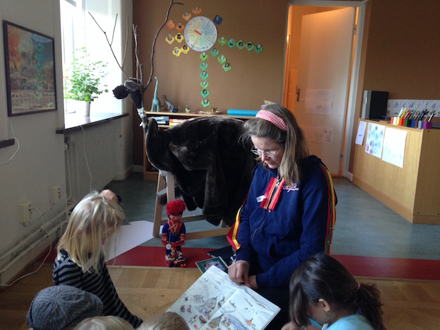 Barnen på besök i Lappland